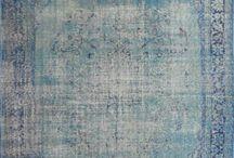 Vintage Rugs - Alfombras Vintage / Overdyed woolen rugs. Alfombras de lana reteñidas.