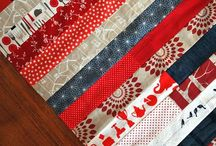 Red sofa quilts