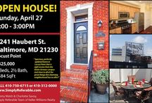 Central Maryland Open Houses