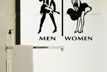 Funny WC stickers / Raccolta di adesivi simpatici con cui arredare il bagno