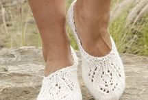 Knit and crochet slippers