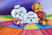 Maltese Dog Art / My art of the Maltese dog. Lyn Hamer Cook, artist