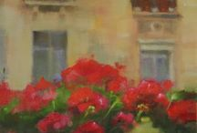 Floral Art by MarilynsCanvas / Paintings and prints with flowers.