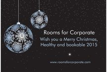 Merry Christmas and a healthy 2015 / We hope you also book in 2015 with Rooms for Corporate. www.roomsforcorporate.com