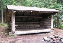 Outdoor in the backyard, shelter, bålplads