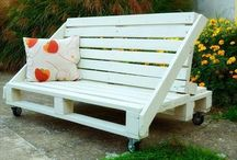 Pallet Bench / Wooden pallet benches project and pallet bench tutorial for home.