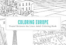 Our Adult Coloring Book for Travelers! / Travel Between the Lines is an Adult Coloring Book for Globetrotters & Daydreamers. If you love to color and you love to travel, check out our book on Amazon!