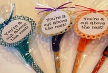 POMS - December staff appreciation gift / gift ideas for $10 or less / by Candace Adams-Desrosiers