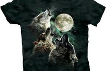 My Collection of Crazy Wolf Shirts! ~Arooo / by Sara Hill Kinney