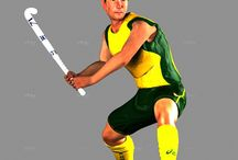 Player Model / A collection of images of our player model from the Field Hockey Computer Game