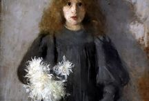 OLGA BOZNAŃSKA / OLGA HELENA KAROLINA BOZNAŃSKA (15 April 1865 – 26 October 1940) was a Polish painter of the turn of the 20th century. She was a notable female painter in Poland and Europe, and was stylistically associated with the French impressionism.