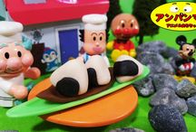 アンパンマンおもちゃアニメ❤日本昔ばなし おむすびころりん 童謡 Anpanman toys
