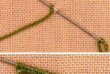 Pontos de bordado