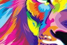 pop art animales