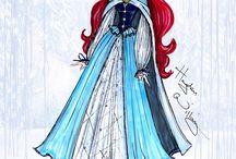 Inverno / E uma coleção completa de casacos desenhados das princesas Disney