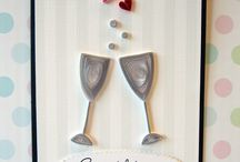 QUILLING-Cup, glass and bottle