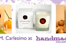 M. Carlesimo 100% Soy Candles / by Handmade Galleries