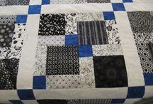 deken zwart wit blauw