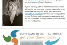WEB4RETAIL- EMAIL EXAMPLES / EMAIL EXAMPLES FROM OUR FUSION MARKETING PROGRAM