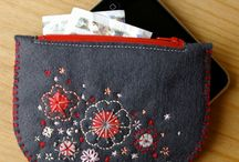 Embroided purses