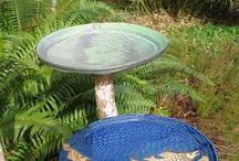 bird baths-vtáčie napájadlá