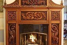portale kominkowe -carving woods