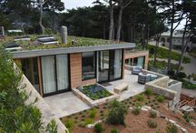 Modern Contemporary Windows and Doors / Overlooking the Big Sur coast is this stunning modern home that includes some of the finest multi panel doors on the market.