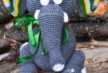 słonie - szydełko / arumigumi