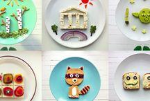 """Eat-Art (Culinária & Arte = divertida) / """"Também se come com os olhos.""""  Quando um prato é bonito, temos mais apetite e vontade de provar algo novo. Por isso, aqui estão algumas ideias para aguçar nossa criatividade. Aproveitem!"""