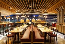 Graze Bath / A destination chophouse and bar with microbrewery in a new station development in central Bath. Designed to make the most of curtain windows overlooking the platform and the ancient city.  Winner - Casual Dining Awards best independent restaurant design