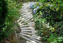 Garden- edging, steps and paths