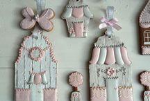 Печенье домики и окна