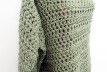 Chunky crochet ponchos