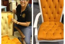 Chair Makeovers / Chairs redesigned, repurposed, recycled, up cycled, with Chalk Paint ® by Annie Sloan