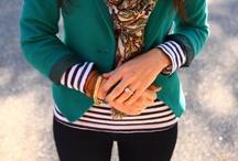 Green blazer look