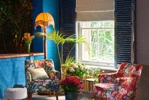 NEW COLLECTION - COLONY (Sept 2016) / melting pot of colonial influences, this collection is exotic and tropical with a refined European twist.  Jacquard cut velvets, digitally printed fabrics, damasks and geometrics combine with deep colours and classical patterns for a striking effect.  For a co-ordinated look see the complimentary Colony wallcoverings range.