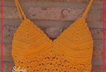 Tops / Tops tejidos a dos agujas y crochet