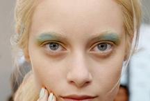 bleached brows, white hair