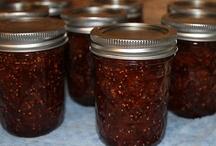 Jams, Jellies & Jars of good stuff.... / Food in jars...jams, jellies, pickles, sauces...oh so yummy....