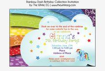 Rainbow Dash Inspired Birthday
