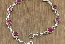 Mix Gemstone Sterling Silver Bracelets