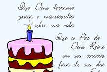 Felicitações de aniversário