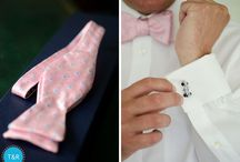 Weddings | Groom Style / Wedding fashion inspiration for guys with style and the details that make a stylish groom- suits, bow ties, suspenders, cuff links, socks and shoes
