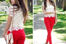 OOTD - R E D P A N T S / by Xime Vargas Aizcorbe