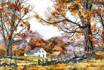 seasons paintings and photos