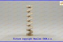 PEEK PLASTIC SPRINGS - MUELLES DE PLASTICO EN PEEK / Compression springs made of peek plastic -  Muelles de compresión fabricados con plástico Peek