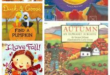 Fall/Autumn Activities in the Library / Fall/Autumn activities in the library, including Thanksgiving, Johnny Appleseed, and pilgrims