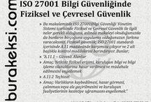 ISO 27001 - Burak EKŞİ