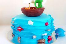 Tarta barquito cáscara de nuez. / MEM Cakes & Cookies