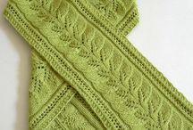 Knit scarves